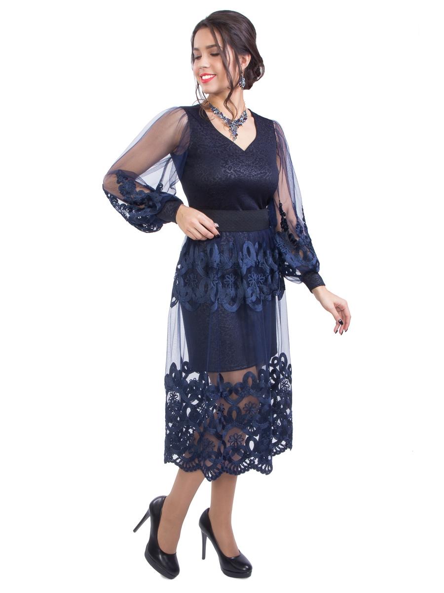 платья по низу с сеткой фото