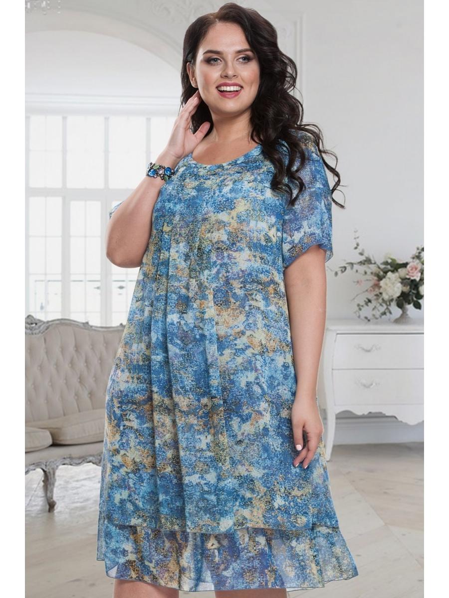 Фото шифоновых платьев для полных на лето